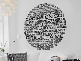 Sticker Les Règles de la Maison Rond