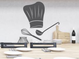 sticker autocollant toque chef cuisine
