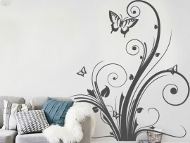 Sticker Floral Papillon 2