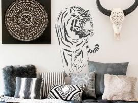 sticker autocollant tigre afrique