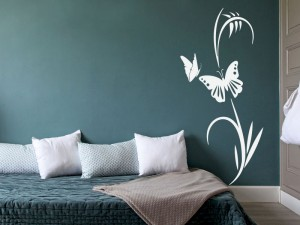 Sticker Floral Papillon 4