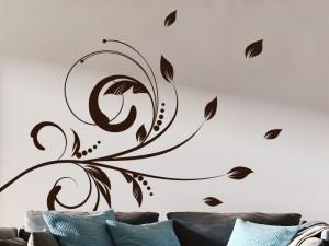 Sticker Branche  Floral d'Automne