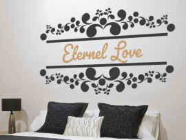 Sticker Ornement Texte Personalisable
