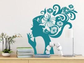 Sticker Profil Femme  Fleur