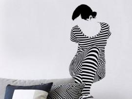 Sticker Femme Rayures