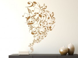Sticker Spirale Notes de Musique