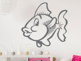 Sticker Poisson Rouge