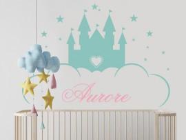Sticker Château de Princesse personnalisable