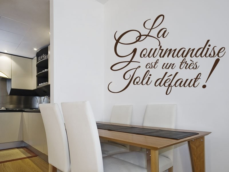 sticker texte cuisine gourmandise magic stickers. Black Bedroom Furniture Sets. Home Design Ideas