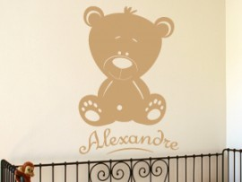 Sticker Petit Ours Personnalisable