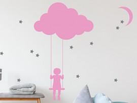Sticker La tête dans les nuages