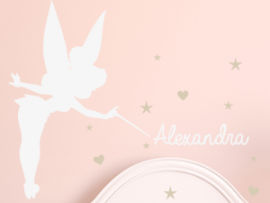 Sticker Fée Clochette Personnalisable