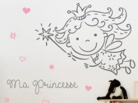 Sticker Fée Princesse Personnalisable