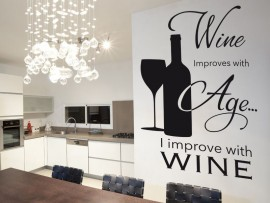Sticker Texte Vin Deco