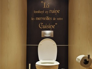 Sticker Texte WC