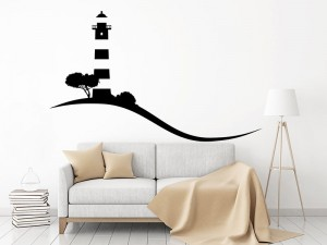 Sticker Paysage Phare