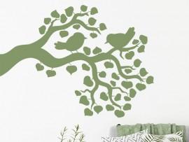 Sticker Branche Oiseaux 8