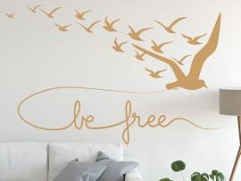 Sticker Oiseaux Be free