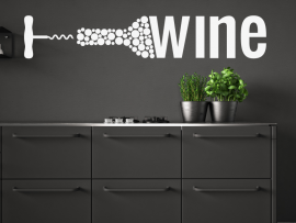sticker autocollant cuisine vin