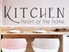 Sticker Kitchen Heart of the home