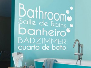 Sticker Salle de bain Bathroom