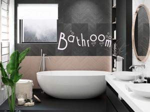 Sticker Bathroom Bulles