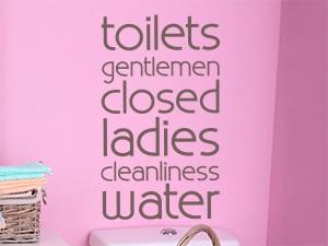 Sticker Toilets