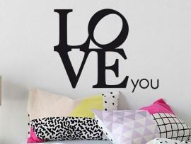 Sticker Love you Design