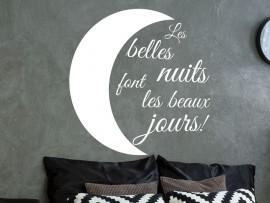 Sticker Les belles nuits font les beaux jours