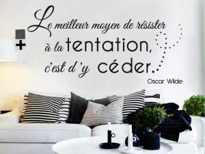 Sticker La Tentation Oscar Wilde