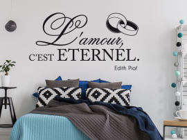 sticker autocollant l'amour eternel edith piaf
