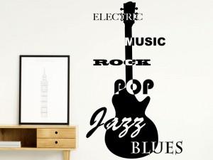Sticker Guitare Jazz, Blues...