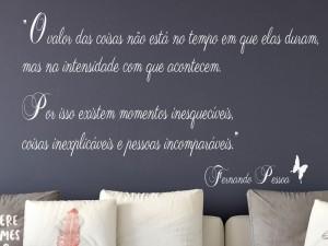 Sticker Citação Fernando Pessoa