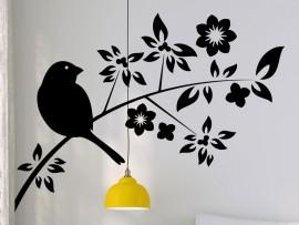 Sticker Branche Oiseau 8