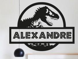 Sticker Nom Jurassic Dinosaure
