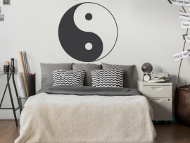 sticker autocollant yin yang yinyang
