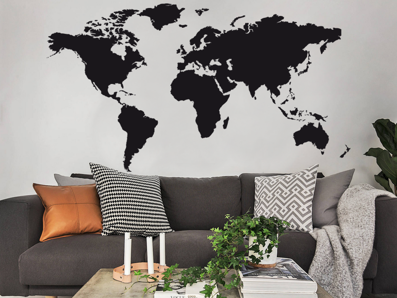 sticker mappemonde magic stickers. Black Bedroom Furniture Sets. Home Design Ideas