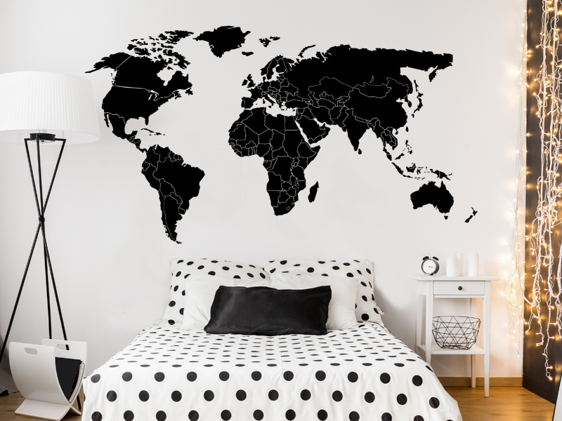 sticker mappemonde fronti res magic stickers. Black Bedroom Furniture Sets. Home Design Ideas