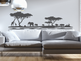 sticker autocollant paysage africain