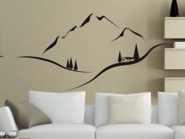 sticker autocollant paysage montagne