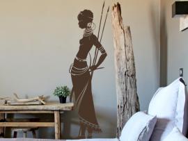 sticker autocollant femme africaine