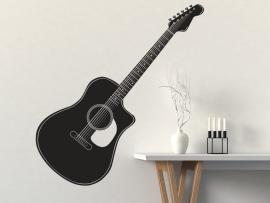 sticker autocollant guitare classique