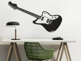 sticker autocollant guitare electrique music