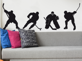 sticker autocollant pack hockey sur glace