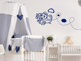 sticker autocollant avion enfant kids