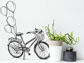 sticker autocollant vélo ballons vintage
