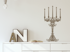 sticker autocollant chandelier barroque vintage
