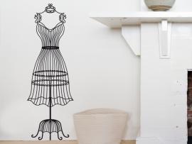 sticker autocollant mannequin couture vintage