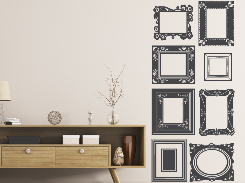 sticker cadres baroques magic stickers. Black Bedroom Furniture Sets. Home Design Ideas