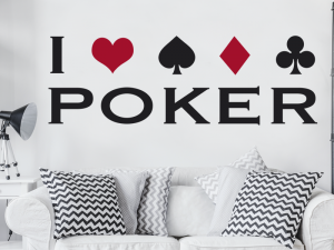Sticker I love Poker